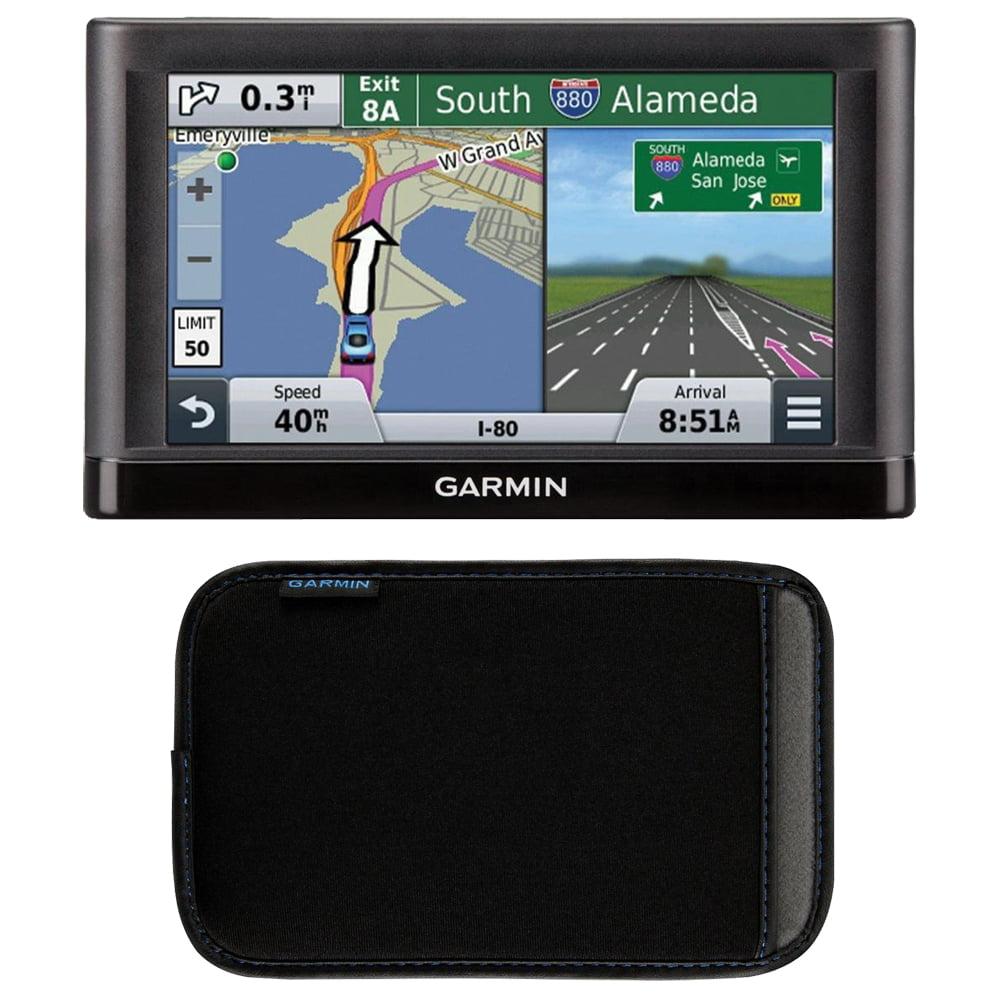 "Garmin nuvi 55LM GPS Navigation System with Lifetime Maps 5"" Display Case Bundle"