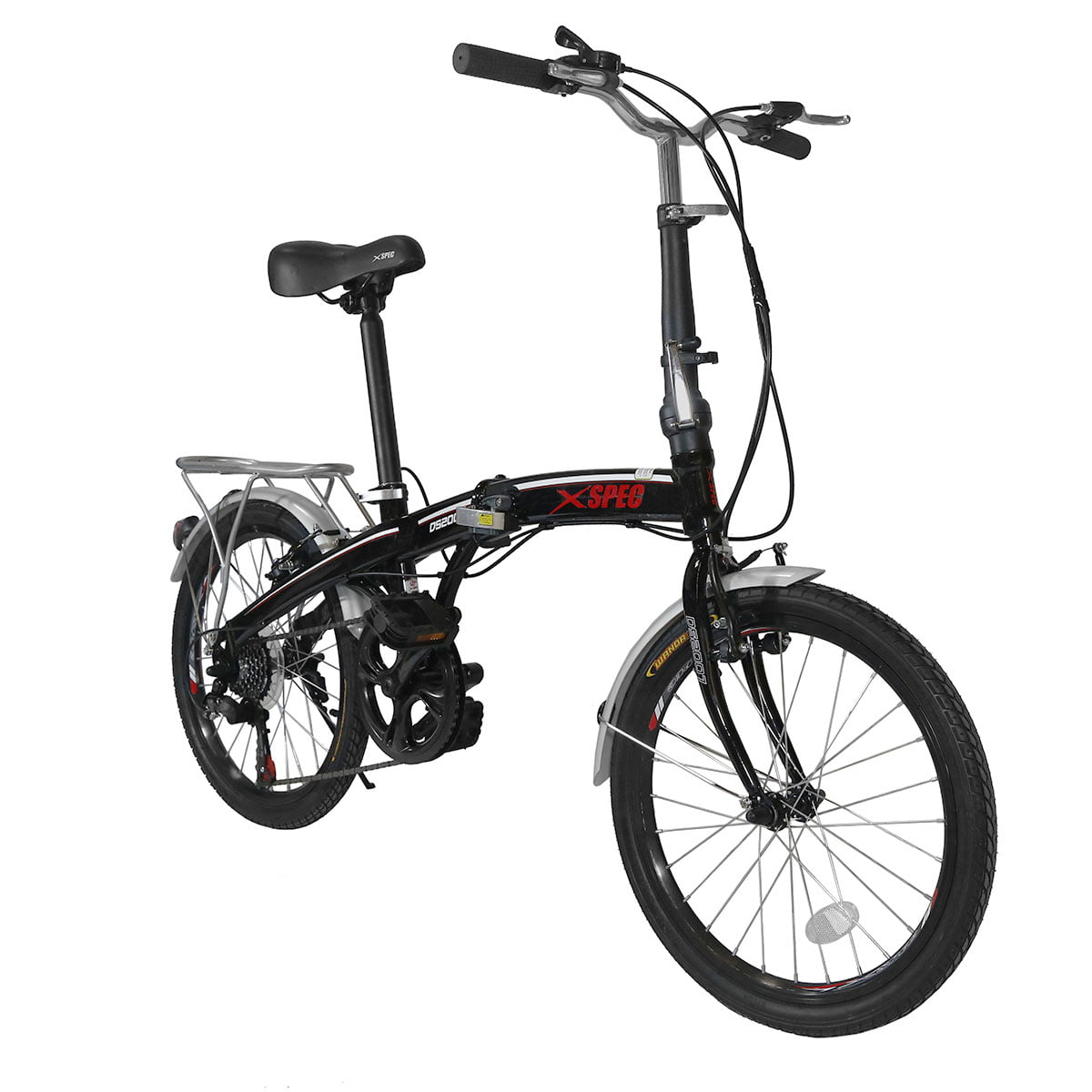 "Click here to buy Xspec 20"" 7 Speed City Folding Compact Bike Bicycle Urban Commuter Shimano, Black by Xspec."