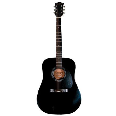 Main Street MA241BK 41-Inch Acoustic Dreadnought Guitar With High Gloss Black (Best Acoustic Guitar For 500 600 Dollars)