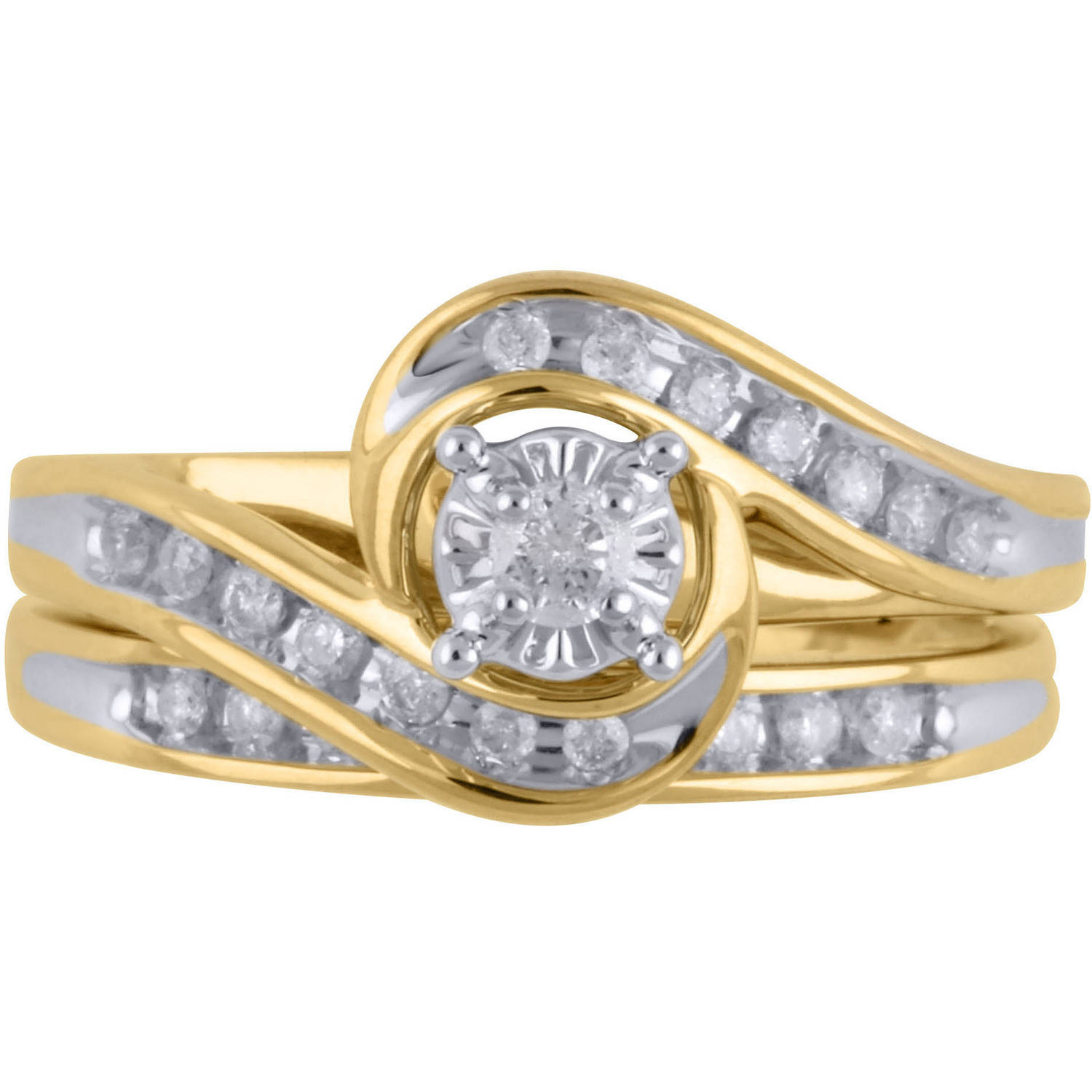 gallery rings real engagement of wedding view sets with displaying ring unique beautiful attachment full gold golden