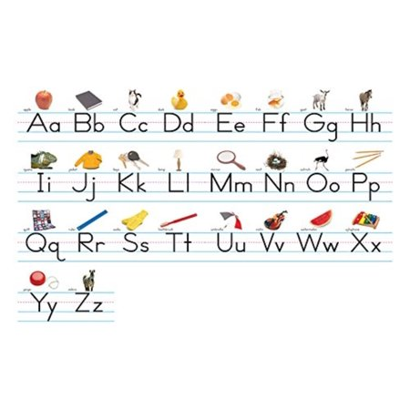 Traditional Manuscript Alphabet Lines Bulletin Board Set, This alphabet line measures over 14 Feet long when assembled By NORTH STAR TEACHER RESOURCE