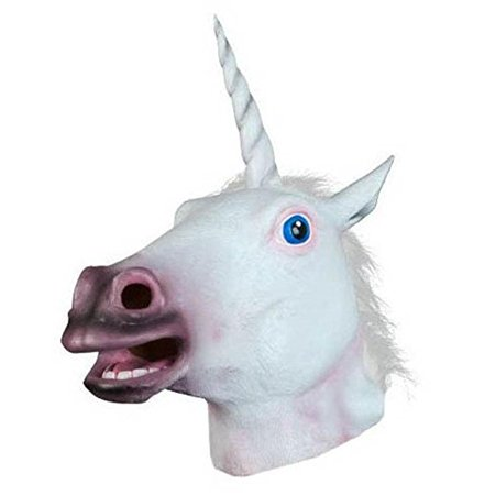 Halloween Unicorn Horse Head Cosplay Costume Party Latex Prop Animal Masks](Unicorn Head Costume)