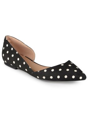 Brinley Co. Women's Cut-out Pointed Toe Fashion Flats