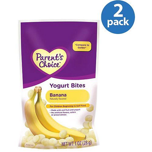 Parent's Choice Banana Yogurt Bites, 1 oz (Pack of 2)