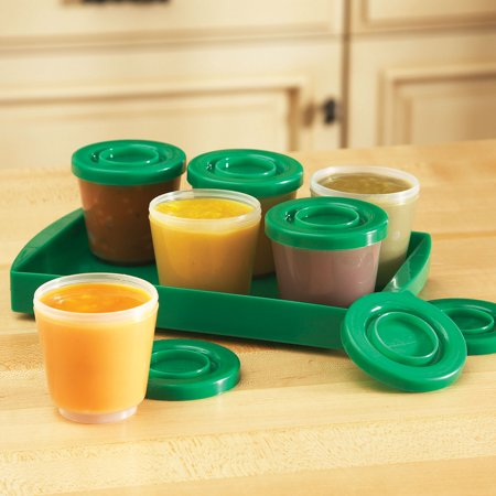 One Step Ahead Baby Food Containers - Safe for Freezer, Dishwasher, Microwave - Fresh N Freeze 4 Ounce Storage Container 6-Pack (Baby Food Storage 4 Oz)