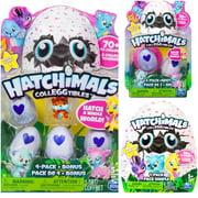Hatchimals Colleggtibles Set - 4 Pack with Bonus - 2 Pack  + Blind Bag (Random Styles)