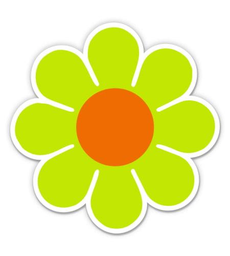 DAISY FLOWER HELMET 40  VINYL DECALS STICKERS DIE CUT RETRO COLORS  patternsrus