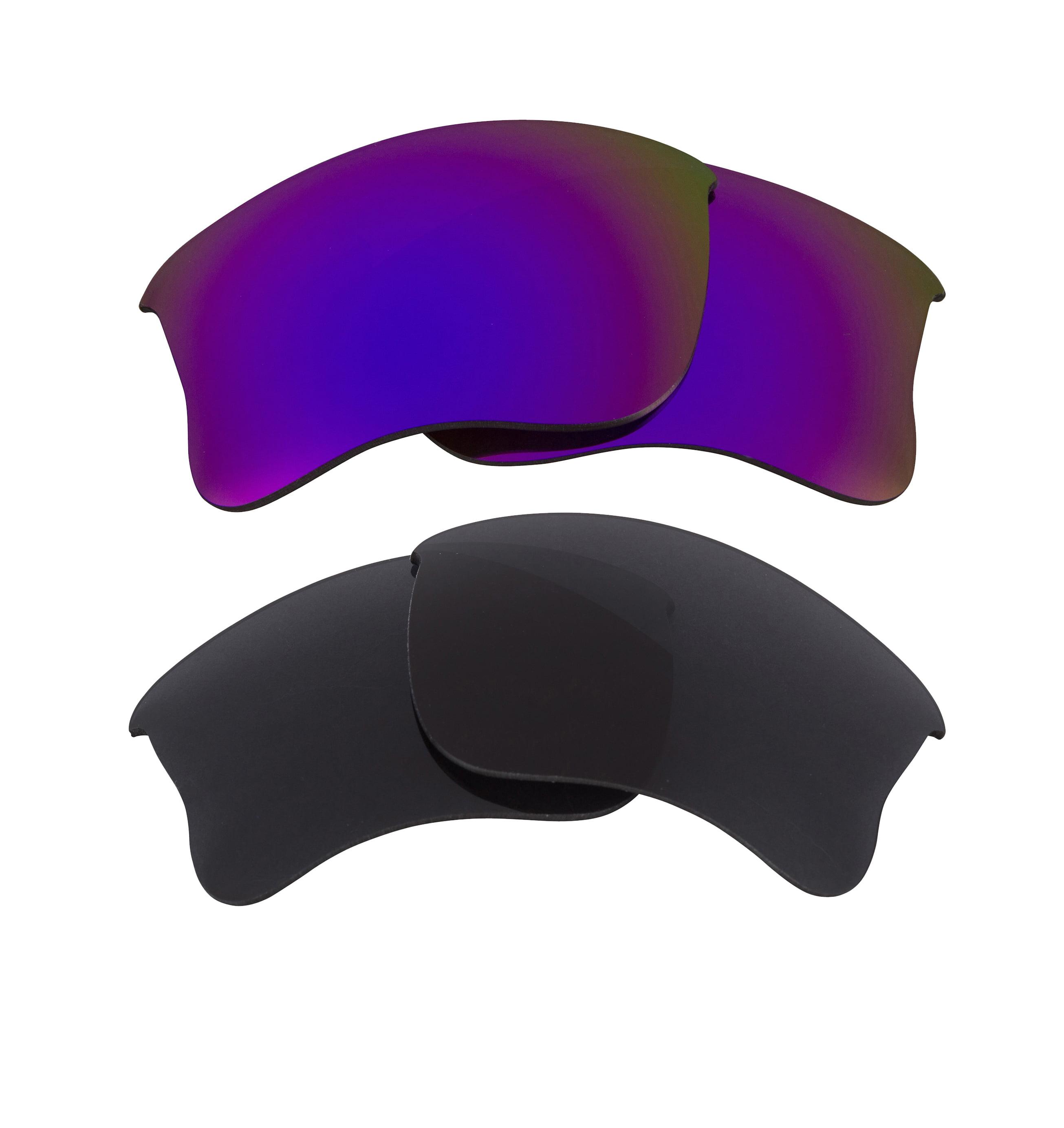 Half Jacket 2.0 XL Replacement Lenses Polarized Grey Purple by SEEK fits OAKLEY
