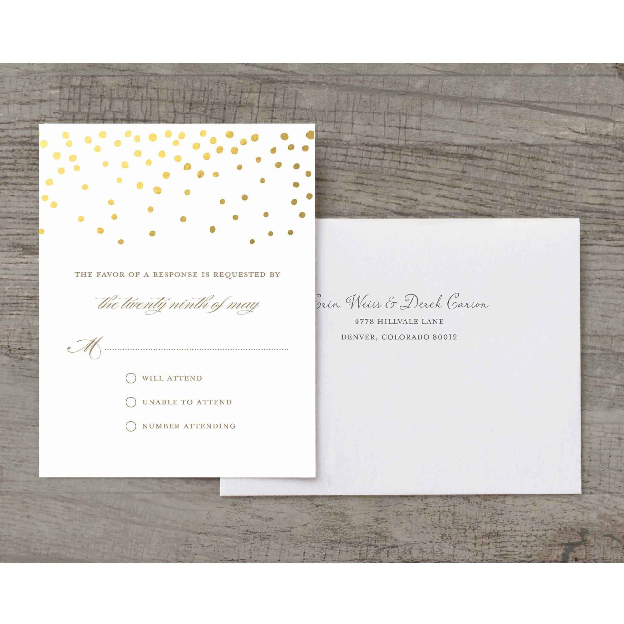 Gold Dots Deluxe RSVP