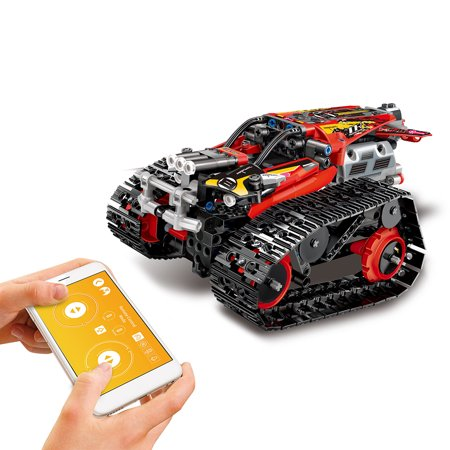 MoFun RC Building Blocks Car DIY Building Kit Car Toy RC Tank RC Stunt Car APP Control Gravity (Ken Block Remote Control Car For Sale)