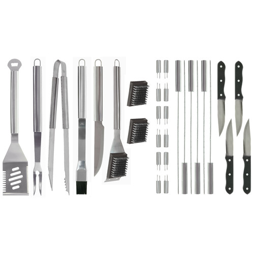 Mr. Bar-B-Q 30-Piece Stainless Steel BBQ Tool Set