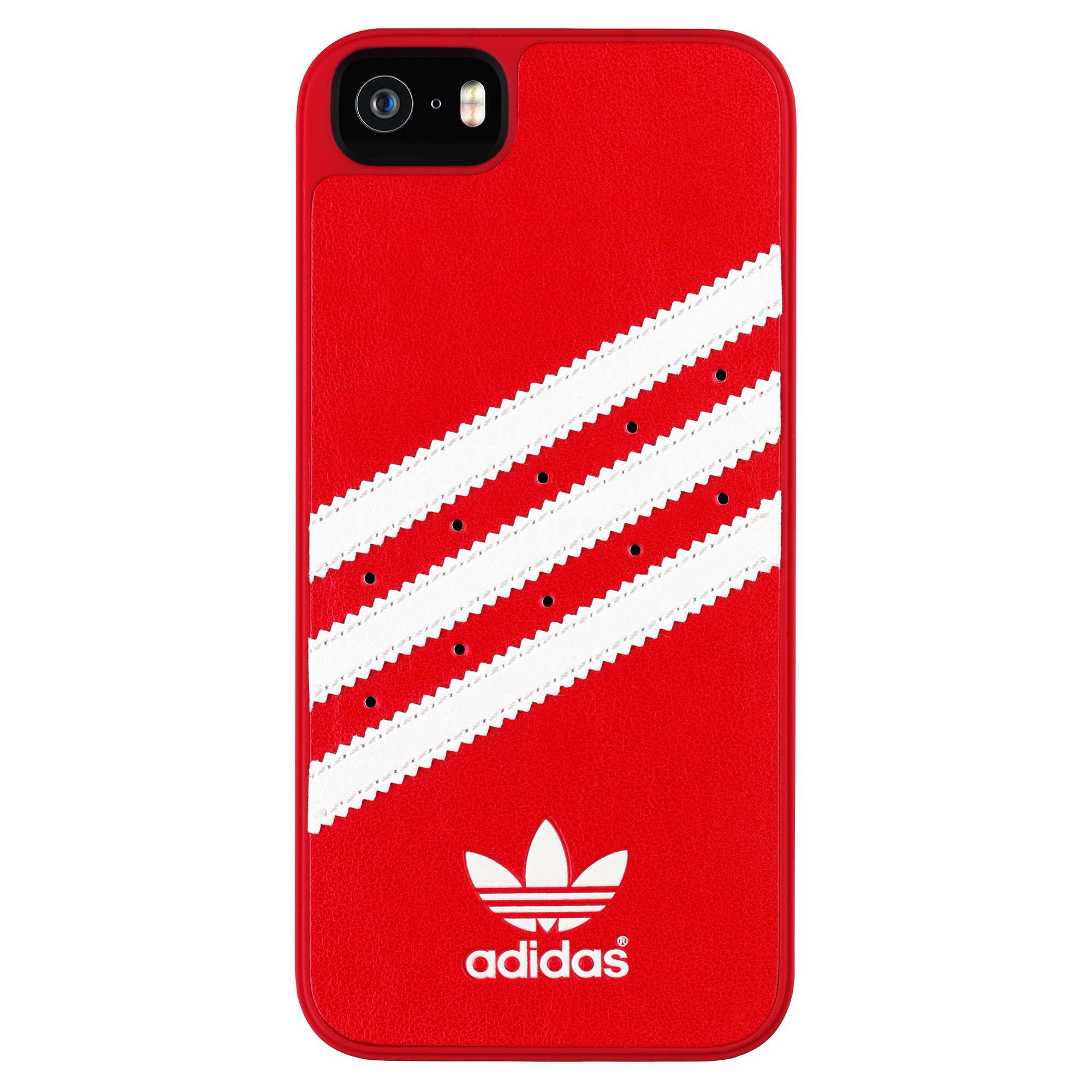 best service 55687 dc159 ADIDAS iPhone 5/5S/SE Red/White Basic Hard Case - 16532