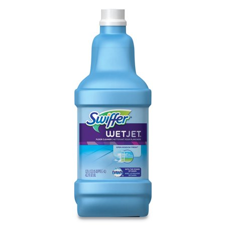 Swiffer WetJet System Cleaning-Solution Refill, Fresh Scent, 1.25 L Bottle, 4/Carton -PGC77810