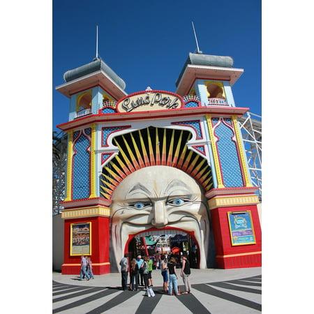 Halloween At Luna Park (LAMINATED POSTER Entertainment Luna Park Entrance Park St Kilda Poster Print 24 x)