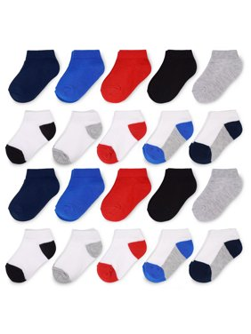 Fruit of the Loom Ankle Sock, 20-Pack (Toddler Boys & Baby Boys)