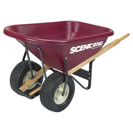 Scenic Road Dual Wheel 8 Cube Wheelbarrow - 800 lb