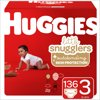 HUGGIES Little Snugglers Diapers, Size 3, 136 Count