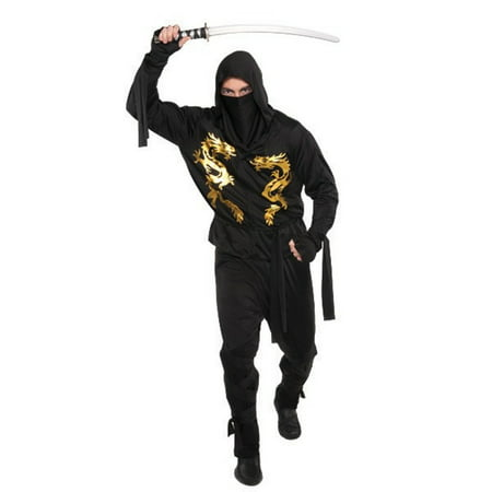 Black Dragon Ninja Costume Mens Adult Standard