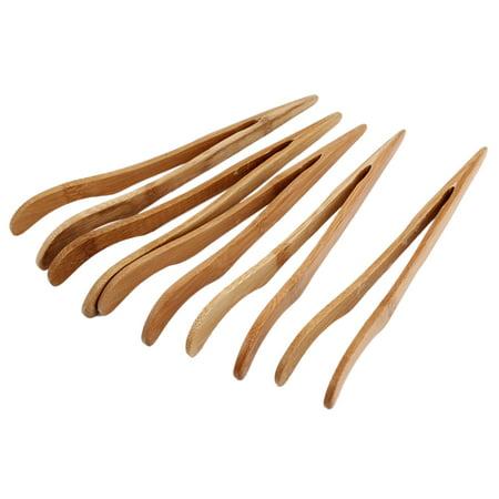 """Unique Bargains 6.9"""" Bamboo Artesanat brucelles thé chinois cérémonie de thé Tong 5 pièces"""