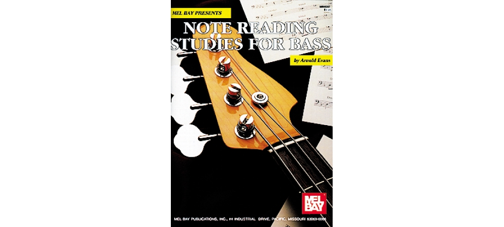 Mel Bay Note Reading Studies for Bass Book by