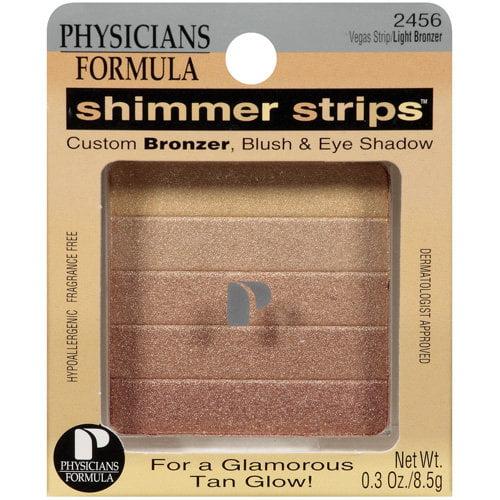 Physicians Formula Shimmer Strips Custom Bronzer, Blush and Eye Shadow, Vegas Strip/Light 2456