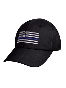ddb0c86bdb32e Product Image Rothco Thin Blue Line Flag Tactical Mesh Back Cap Law  Enforcement Support, Black