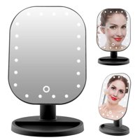 Anauto 10X Manifying USB Makeup Mirror,3 Colors 20LED 10X Manifying Cosmetic Mirror Touch Screen Battery Power Supply Makeup Mirror