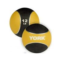 York Medicine Ball - Yellow - 12 lbs