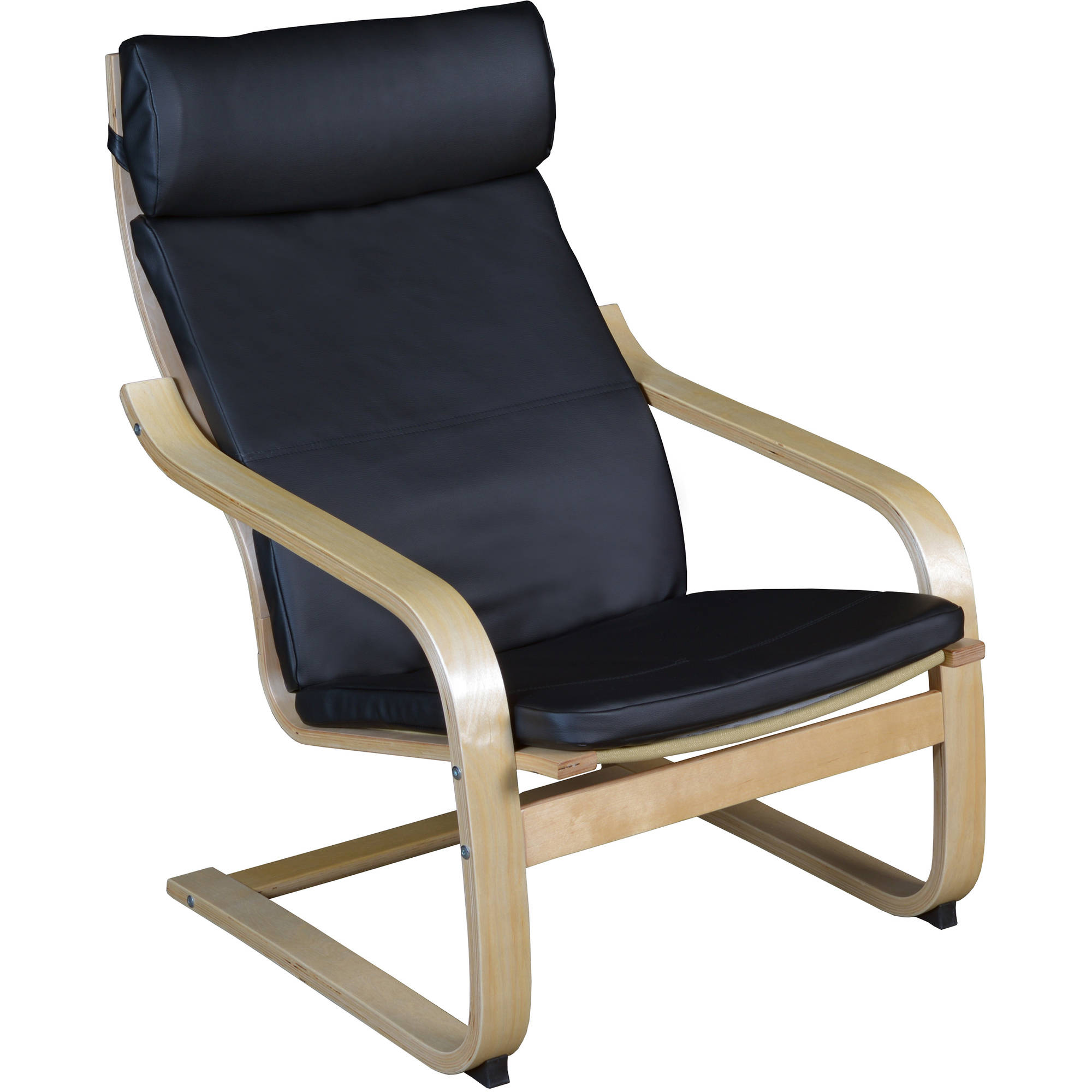 Regency Niche Mia Bentwood Chair, Natural/Black Vinyl
