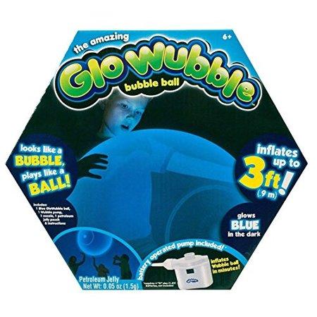 The Amazing Glo Wubble Bubble Glows Blue in the Dark (Glow In The Dark Footballs)