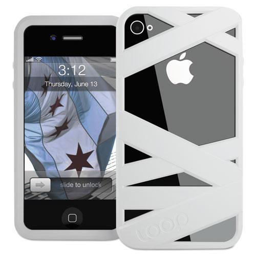 Loop LOOP2WHT Mummy Case for iPhone 4/4S, White