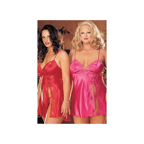 Shirley of Hollywood Sexy Lace Baby Doll With Cut-Away Front X20016 Pink,Purple