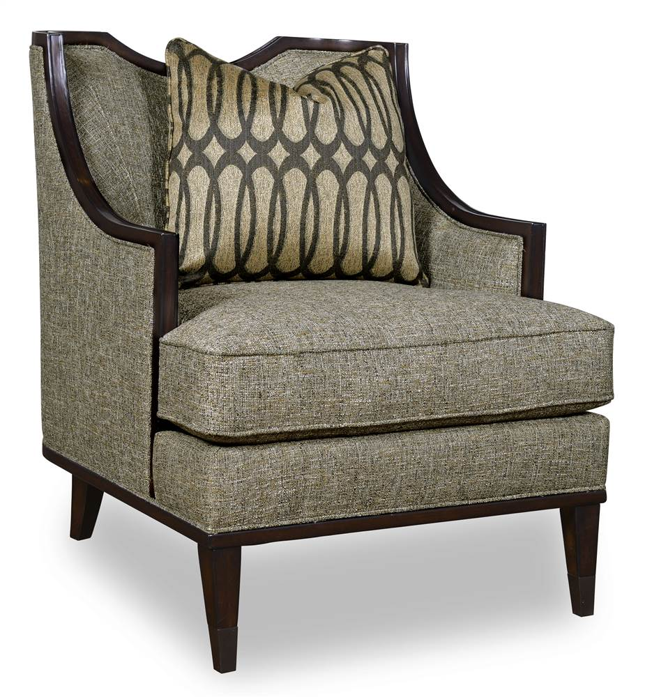 Coaster Accent Chair In A Grey And Yellow Stylish Pattern