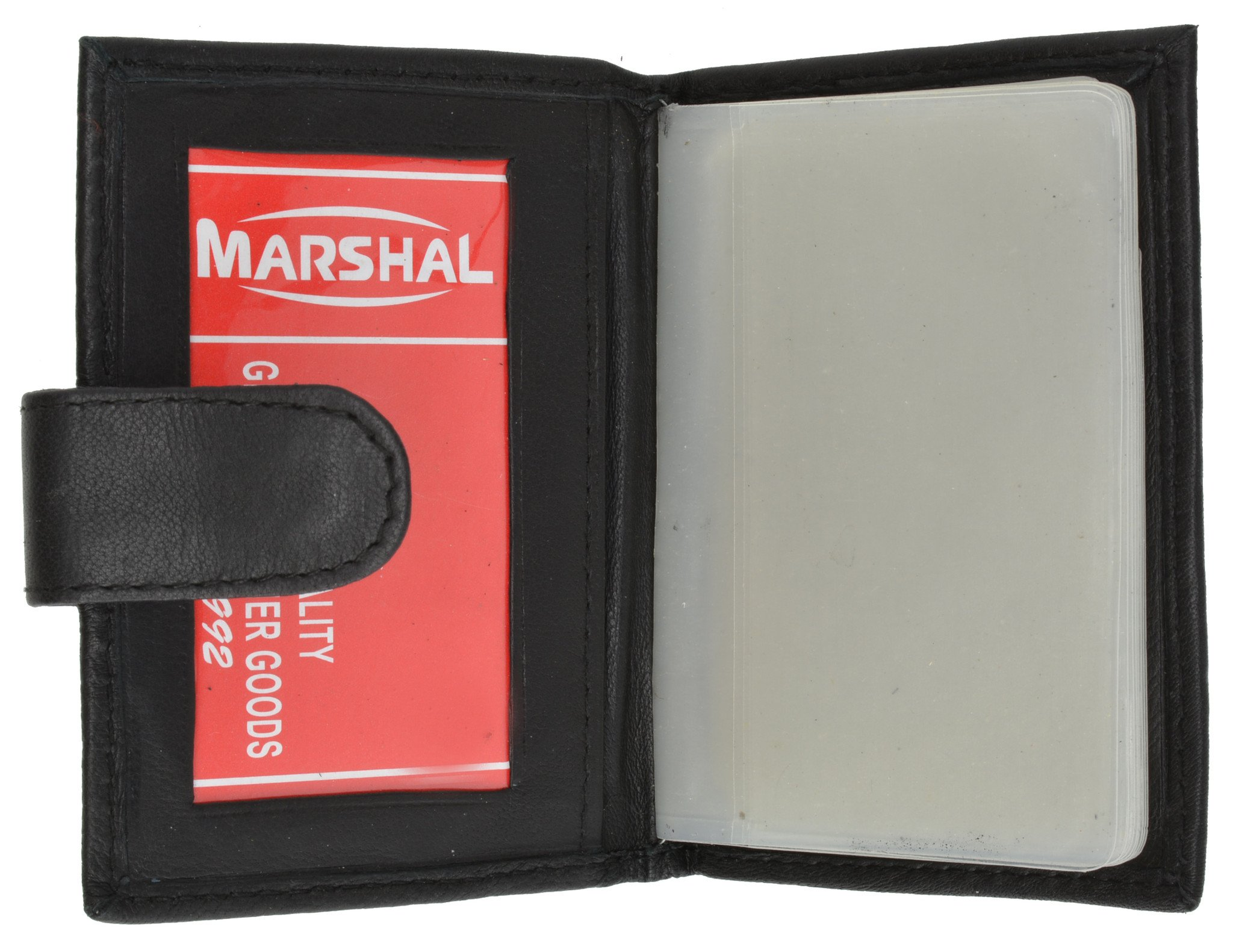 RFID Premium Leather 32 Count Credit Card//business Card Holder with Snap Closure