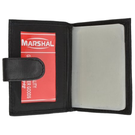 RFID Premium Leather 32 Count Credit Card/business Card Holder with Snap Closure RFID P 570 (C) Snap Business Card