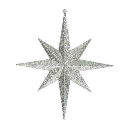 "Vickerman 12"" Champagne Glitter Bethlehem Star Ornament 2/Bag"