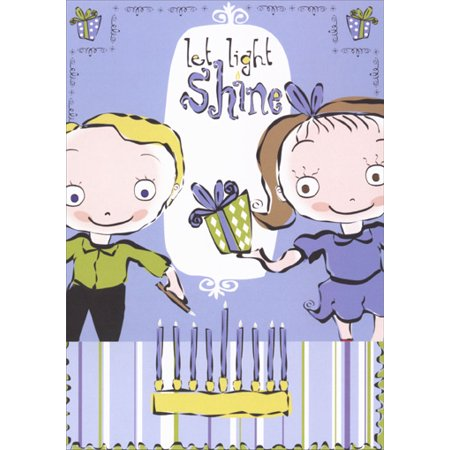 Recycled Paper Greetings Let Light Shine Hanukkah Card (Shine Paper)