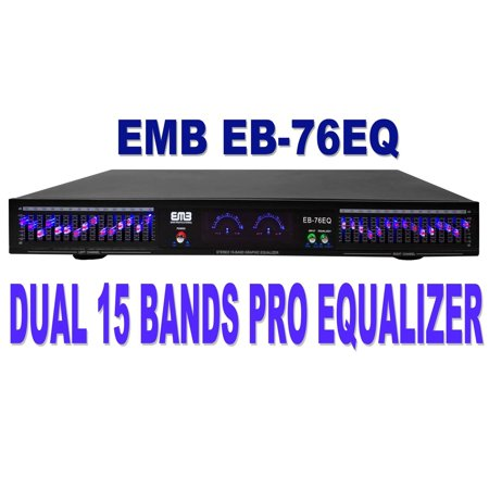 EMB Professional EB-76EQ Dual 15 Band (30 Bands Total) Graphic Stereo