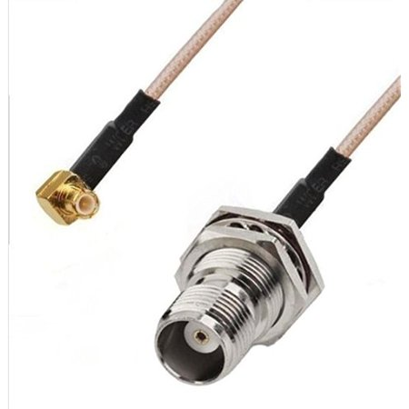 Tnc Connection - RF pigtail cable TNC female to MCX male right angle RG316 30CM