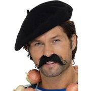 """28"""" Black Frenchman Unisex Adult Halloween Beret Costume Accessory - One Size"""