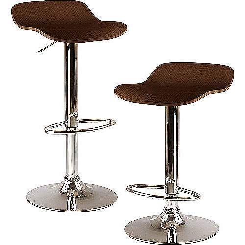 Winsome Wood Kallie 2pc Airlift Stools, Cappuccino Swivel Seat