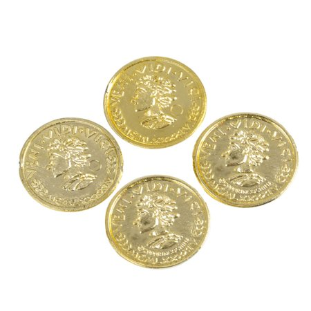 Mozlly Pirate Gold Plastic Coins - Toy Tokens for St Patricks Day (144pc (Rhode Island Mint Coin Set)