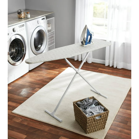Mainstays T-Leg Ironing Board, Grey Diamond Tile