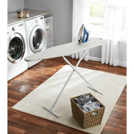 Mainstays T-Leg Ironing Board, Grey Diamond Tile