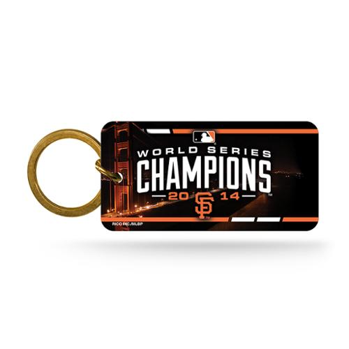 San Francisco Giants Official MLB 1 inch  Crystal View Key Chain Keychain by Rico Industries