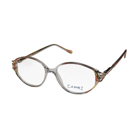 New Capri Michelle Womens/Ladies Designer Full-Rim Gold / Yellow / Multicolor Comfortable Female For Seniors Frame Demo Lenses 52-15-135 Eyeglasses/Eyewear