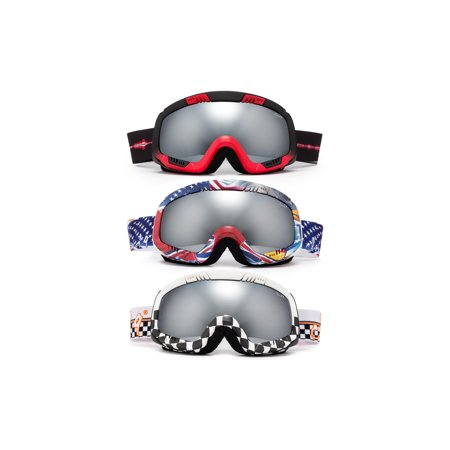 """Cloud 9 - Snow Goggles """"Method"""" Adult American Anti-Fog Double Lens UV Protection Wide Angle Multicolor Mirror Snowboarding (1 Pair only, choose your color)"""