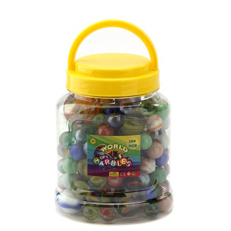 Fun Central (BC810) 160 pcs Assorted Marbles, Toy Marbles, Glass Marbles Set, Glass Toy Marbles Bulk for Kids for $<!---->