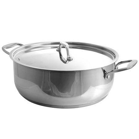 Better Chef 12 Qt. Stainless Steel Low pot Burnt Stainless Steel Pot