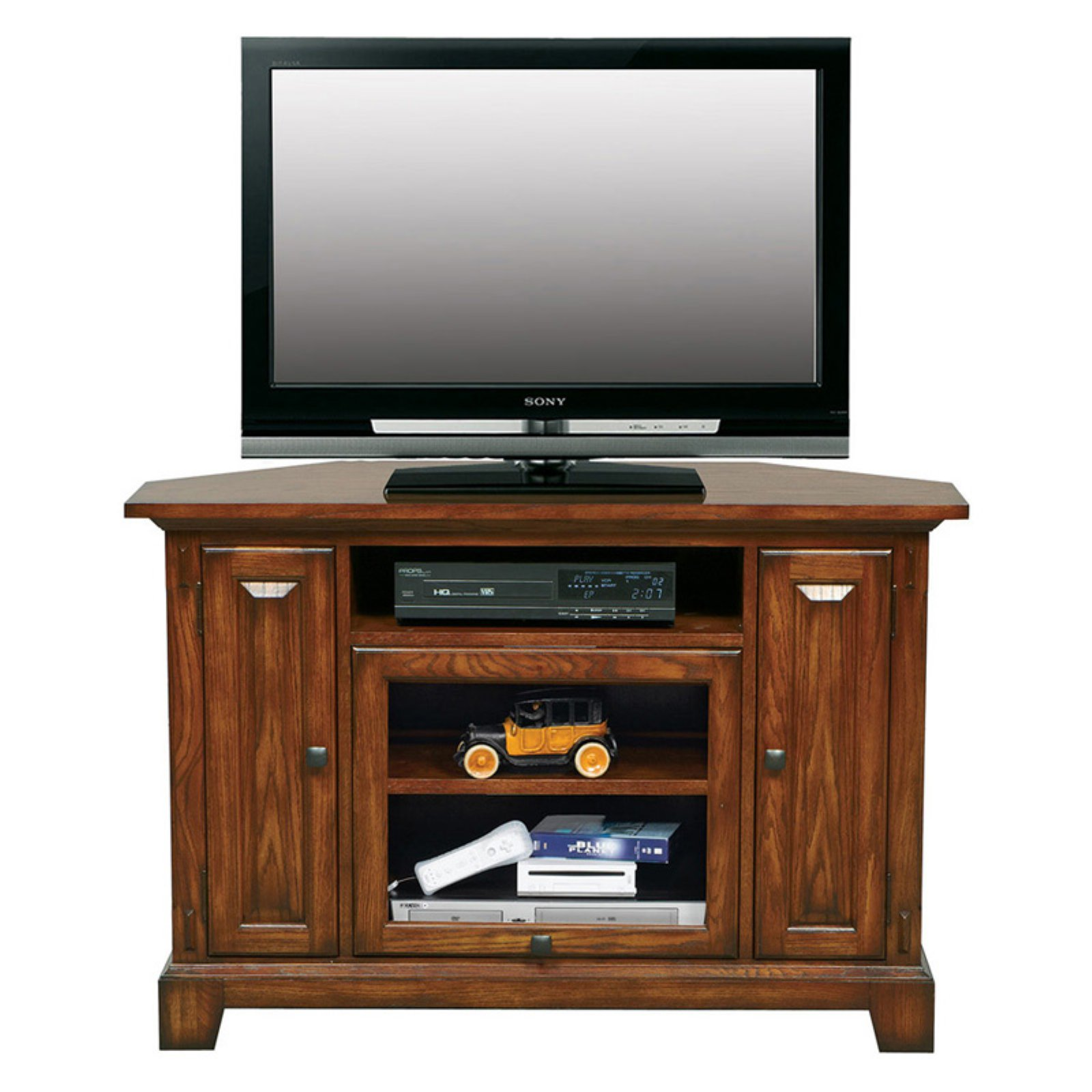 Winners Only Zahara 47 in. Corner Media Base - Medium Oak